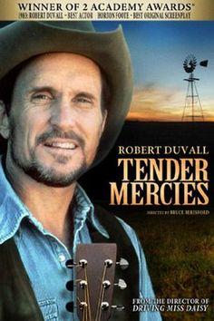 TENDER MERCIES (1983) - Robert Duvall - Tess Harper - Wilfred Brimley - Ellen Barkin - Screenplay by Horton Foote - Directed by Bruce Beresford - DVD cover art