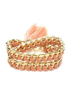 Ettika Jewelry Leather & Crystal Wrap Bracelet