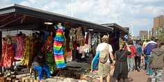 Curio Stalls at Durban Beach Front, South Africa
