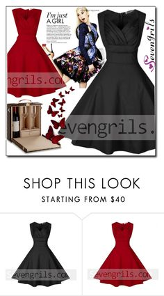 """""""SEVENGRILS.COM 14"""" by ozil1982 ❤ liked on Polyvore featuring vintage"""