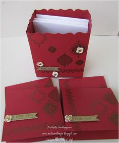 Michelle's Great Paper Chase: Fancy Favor Note Card Boxes