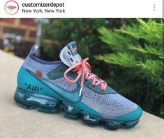 Custom Sneakers, Shoe Brands, Shoe Sale, Nike Air Vapormax, Off White, Mens Fashion, Thoughts, Shoes, Kicks