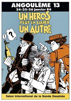 """actudufauve: """"Les affiches du Festival: Jacques Tardi 1986: L'exposition…"""