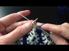 Stranded Knitting Worked Flat - YouTube