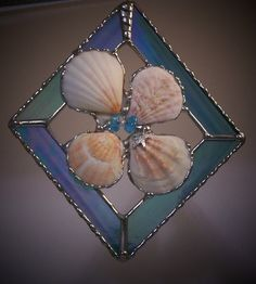 Stained Glass Panel sea shell ornament by PineTreeGlassWorks, $34.00