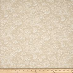 "108"" Wide Quilt Back News Paisley Floral Cream from @fabricdotcom  Designed by Mary Koval for Windham Fabrics, this 108'' wide quilt backing features an all over paisley-floral pattern. It is perfect for quilt backing, duvets, light curtains and more!"