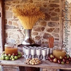 Rustic elegance for the fall! Perfect for a small reception, rehearsal dinner or bridal shower!