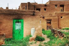 Taos Pueblo, New Mexico Green by bigredproduction, via Flickr