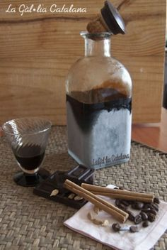 Licor de cafe aromatizado con chocolate #orujo