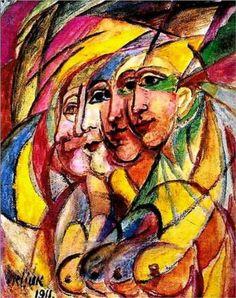David Burliuk (1882 1967) | Futurism | Futuristic woman - 1911