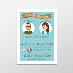 Who says wedding invitations need to be serious? Let your family and friends know they're going to your wedding with this fun #hipster wedding invitation! http://etsy.me/20W6cWl