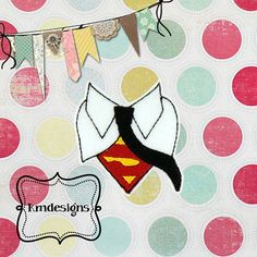 Hero Man feltie ITH Embroidery design file
