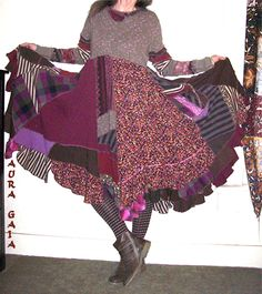 AuraGaia ~Brownie~ Poorgirl Tunic Dress Upcycled Goodness