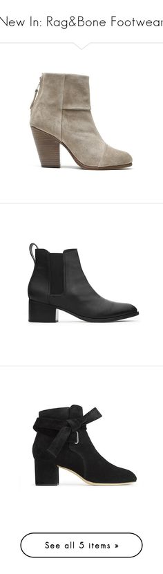 New In: Rag&Bone Footwear by blueandcream on Polyvore featuring women's fashion, shoes, boots, rag bone boots, rag bone shoes, ankle booties and rag bone booties