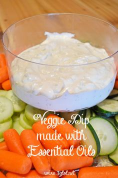 Healthy Living Veggie Dip made with Essential Oils. Classic vegetable dip with the added benefits of basil and oregano essential oils. Oregano Oil Benefits, Cooking With Essential Oils, Oregano Essential Oil, Esential Oils, Doterra Recipes, Cooking Recipes, Healthy Cooking, Healthy Recipes, Drink Recipes
