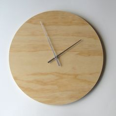 Objectify Plywood Wall Clock - Large. $36.00, via Etsy.