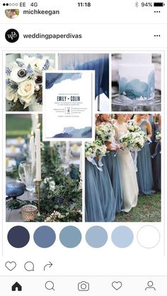 Blue Watercolor Wedding Theme is part of Wedding A splash of dusty blues and a dab of navy blue remind us of a beautiful watercolor Paint your love story with a blue, watercolor wedding theme and d - Fall Wedding, Dream Wedding, Trendy Wedding, Wedding Ceremony, Dusty Blue Weddings, Dusty Blue Bridesmaid Dresses, Navy Bridesmaids, Wedding Paper Divas, Wedding Themes