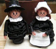 Instructions made on how to make these cute yoyo doll great for thanksgiving table for fall   Great for you and kids to make  comes in pdf format with