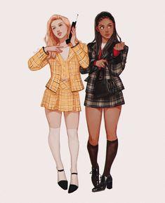 Cute Art Styles, Cartoon Art Styles, Black Girl Art, Art Girl, Fashion Design Drawings, Clueless, Pretty Art, Girl Cartoon, Designs To Draw