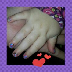 My friend Amy posted about putting Jams on a 2y old: Today I was playing around with my Jamberry Nail wraps and my 2 year-old niece, I discovered that a regular hole punch is almost the perfect size to allow me to get all of her tiny fingers from one wrap! Then I trimmed the end for her thumb! She was very excited to be PWETTY!! http://wonderful.jamberrynails.net/