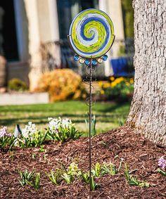 Spring Days Swirls Glass & Gem Garden Stake Set #zulily #zulilyfinds
