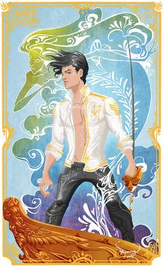 Prince Eric, the Little Mermaid. I tried to picture prince Eric with masculinities, sexy and a little bit seductive. Disney Princes, Disney Films, Disney And Dreamworks, Disney Cartoons, Disney Pixar, Disney Nerd, Disney Fan Art, Disney Love, Disney Magic
