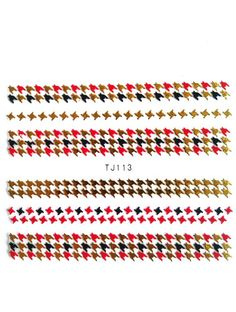 Houndstooth check nail art stickers £1 http://www.charliesnailart.co.uk/houndtooth-check-nail-stickers-available-in-2-colours/
