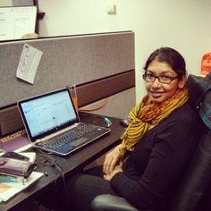 Sarmini, our devilangel_n_1, working hard!