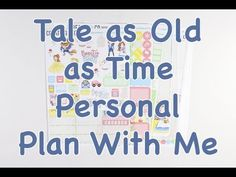 Personal Plan With Me - Tale as Old as Time