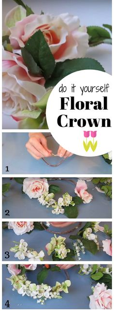 DIY Flower Crown | How To Make Headdress for Bride, Bridesmaid and Flowergirls - Easy Step by Step Tutorial.