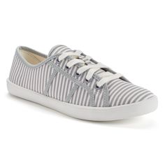 LC Lauren Conrad Women's Lace-Up Sneakers --- Cone in Floral Pattern