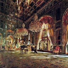 Golestan Palace, Tehran.  The Hall of Mirrors