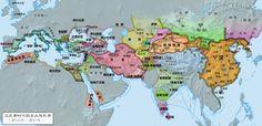 漢武帝時期亞歐大陸形式