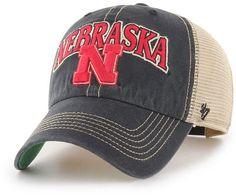 5d2d1fa9de7  47 Nebraska Cornhuskers Tuscaloosa Mesh Clean Up Cap Branded Caps