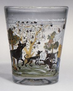 Tumbler, 1723. Probably German. The Metropolitan Museum of Art, New York. Bequest of George White Thorne, 1883 (83.1.39)
