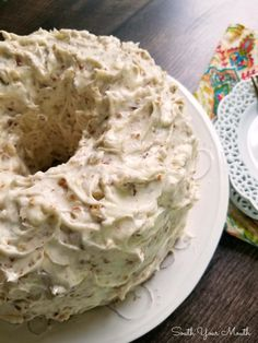 Pecan Cream Pound Cake with THE BEST Pecan Cream Cheese Frosting! A decadent Southern pound cake recipe made with sour cream and pecans topped with an ultra creamy pecan-studded cream cheese frosting that will have folks begging for the recipe! Pecan Flour Recipe, Pecan Pound Cake Recipe, Butter Pecan Cake, Coconut Pecan Frosting, Pound Cake Recipes, Cake With Pecans Recipe, Cream Cheese Pound Cake, Cream Cheese Filling, Bunt Cakes