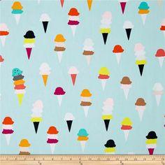 Ice Cream Fabric Multicolored Art Gallery I by BabyFabricStore