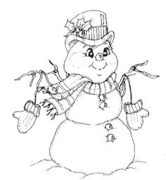 Christmas Rubber Stamps Giant Snowman looks like a snow girl to me!