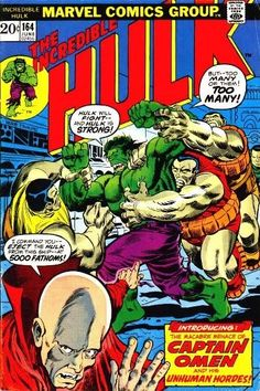 Incredible Hulk #164. The undersea world of Captain Omen. Art by Herb Trimpe