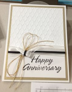 Loving the twine 50th Anniversary Cards, Handmade Anniversary Cards, Parents Anniversary, Anniversary Ideas, Wedding Shower Cards, Wedding Cards, Paper Cards, Cards Diy, Engagement Cards
