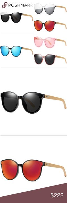 c10f312d90c0 Frames: PC+Bamboo Lenses: Polarized (except pink ones noted in pic)  Protection: Polarized + Accessories Sunglasses