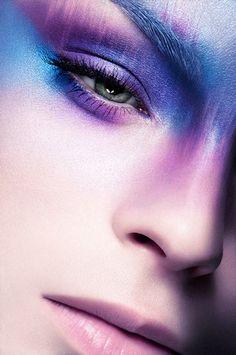 blue purple eyeshadow -avant garde