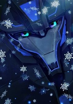 Soundwave in the snow. Excellent use of colors. Just wow. Nicely done.
