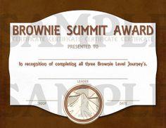Girl Scouts Brownie Summit Award