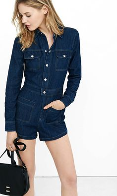 f9cd754288c We re festival ready thanks to this adorable denim romper from Express!