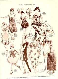 The Paper Collector: More Weldon's Children's Fancy Dress vintage costumes - lot. The Paper Collector: More Weldon's Children's Fancy Dress vintage costumes - lots of costumes at this site. Retro Costume, Vintage Costumes, Vintage Patterns, Vintage Sewing, Authentic Costumes, Childrens Fancy Dress, Fashion Illustration Vintage, 20th Century Fashion, Antique Clothing