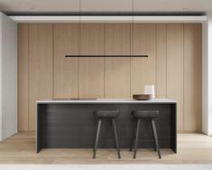 kitchen Kitchen Dinning, Kitchen Sets, Home Decor Kitchen, Home Kitchens, Modern Kitchen Design, Modern Design, Interior And Exterior, Interior Design, Construction Design