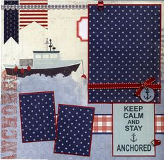 Keep Calm and Stay Anchored Premade by SusansScrapbookShack, $15.95, cute colors and patterns