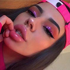 beautiful makeup looks Glam Makeup, Cute Makeup, Pretty Makeup, Skin Makeup, Makeup Inspo, Makeup Inspiration, Full Face Makeup, Make Up Looks, Makeup Looks