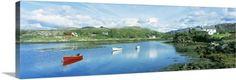 Premium Thick-Wrap Canvas Wall Art Print entitled Ballycrovane Harbour County Cork Ireland, None